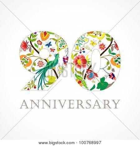 90 anniversary folk logo.