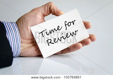 Time For Review Text Concept