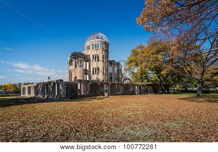The Atomic Bomb Dome Or Genbaku Dome Is The Nuclear Memorial At Hiroshima , Japan