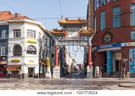 China Town In Antwerp, Belgium