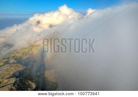 Mountain sunrise landscape.