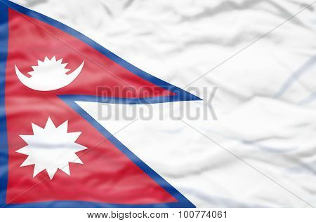 Nepal flag.