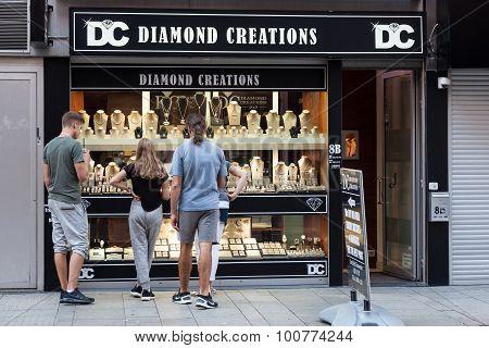 Diamond Shop In Antwerp, Belgium