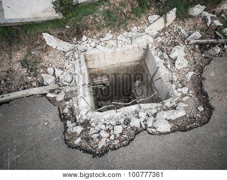 Underconstruction Underground Drain.