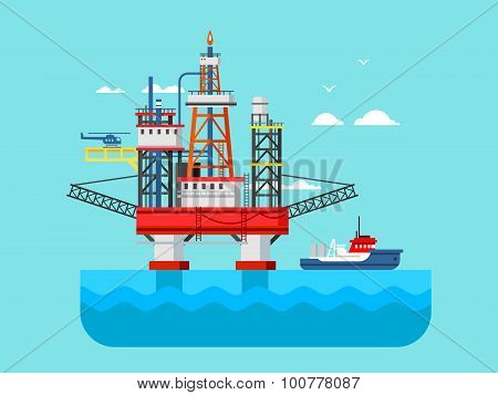 Drilling rig at sea