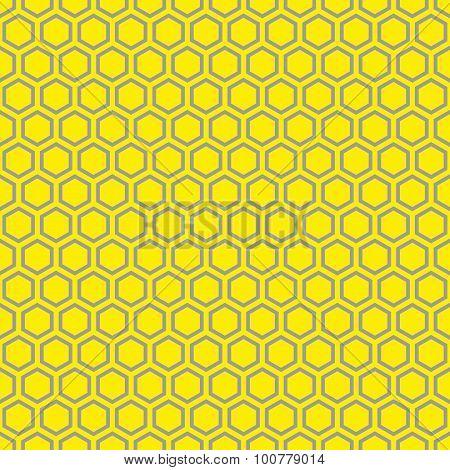 Seamless yellow honeycomb pattern