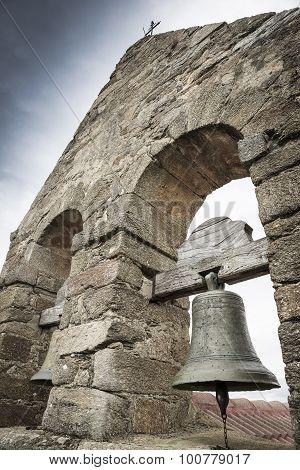 bell tower of San Pedro church - Villar de Farfon, Zamora, Spain