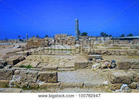 Archeological Site Of Caesarea