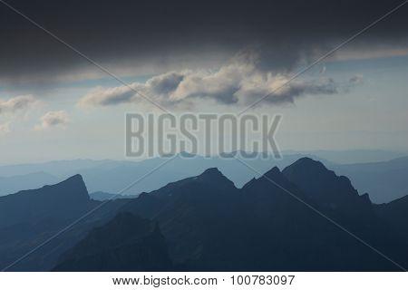 Evening Scene On Mt Titlis