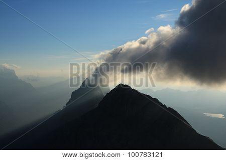 Smoke Like Cloud Over A High Mountain