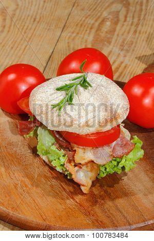 Toast, Toast Bread, Bacon, Ham, Tomato, Lettuce