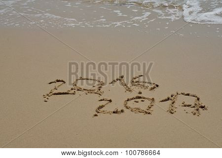 2016 And 2017 Year On The Sand Beach