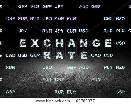 Money concept: Exchange Rate in grunge dark room