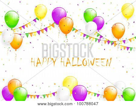 Halloween Balloons And Tinsel