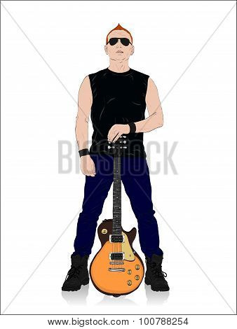 Rocker With Guitar