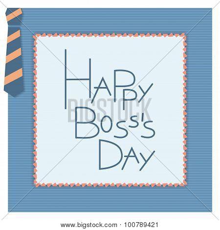 Happy boss day invitation card.