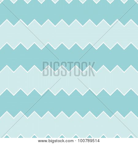 Seamless turquoise sawtooth zig-zag pattern background
