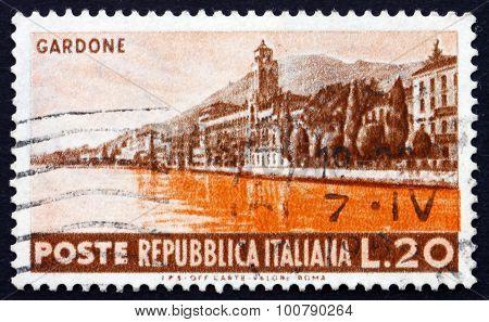 Postage Stamp Italy 1953 Seaside At Gardone