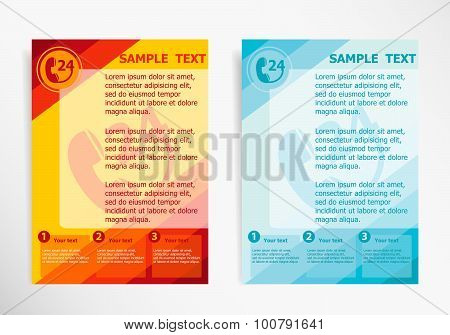 Support And Service On Abstract Vector Modern Flyer.