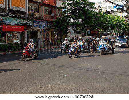 Car traffic Bangkok.