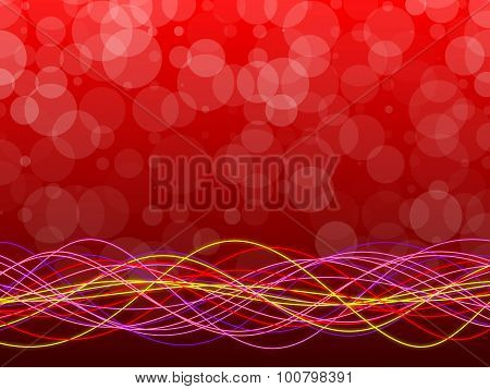 Red Abstract Background, Circles And Form