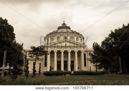 Bucharest, Romania - June 28, 2015: The Romanian Athenaeum Named