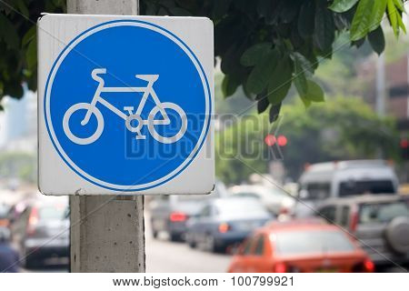 Sign Indicating Cycle Path
