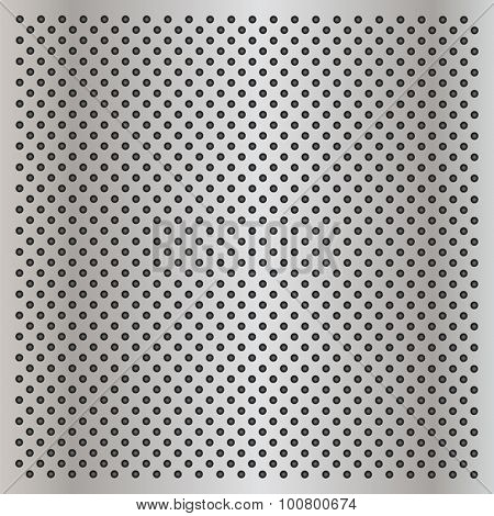 Vector concept conceptual gray metal stainless steel aluminum perforated pattern texture mesh background