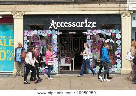 EDINBURGH SCOTLAND UK - CIRCA AUGUST 2015: Accessorize brand store