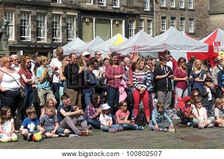Fringe Festival Audience In Edinburgh