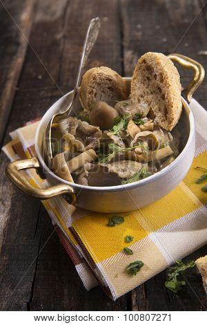 Mushroom Soup Pioppino