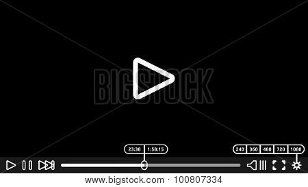 Video player for web and mobile apps. Vector illustration. Media Player Design