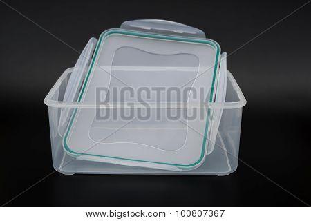 Translucent Storage Box On Black