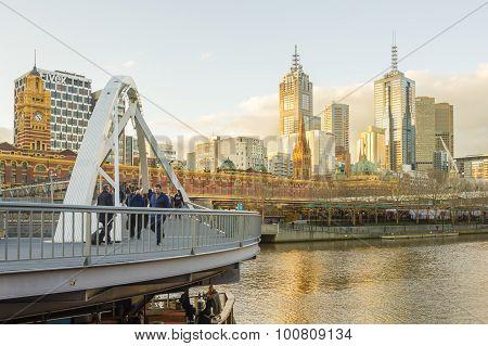 Melbourne Cityscape Near Sunset