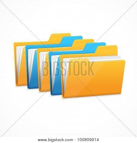 File Folders Set. Vector