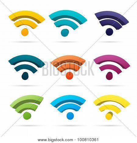 Color Wifi Symbols