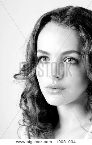 Innocent Beautiful Woman Face