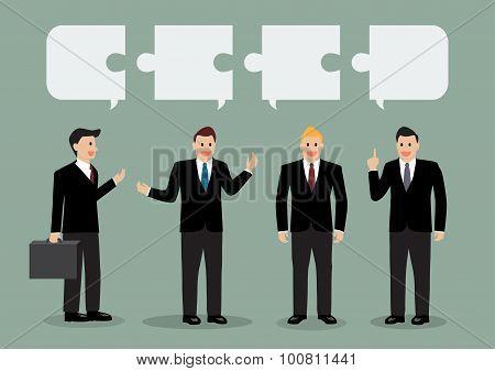 Businessman In Conversation