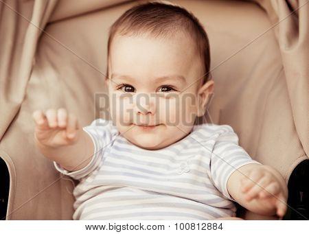 Baby Boy In The Stroller