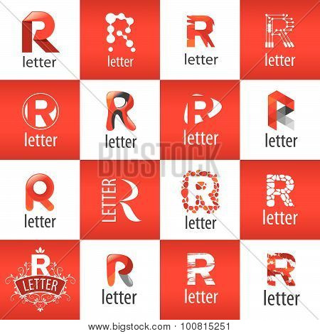 Large Set Of Vector Logo Letter R