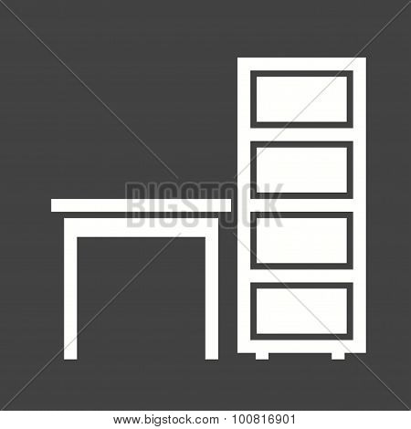 Table with Shelves Icon