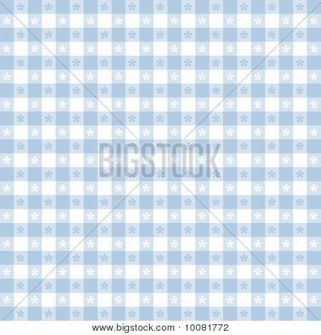 Seamless Tablecloth Pattern, Blue