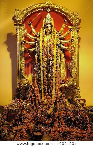 Golden Durga Goddess