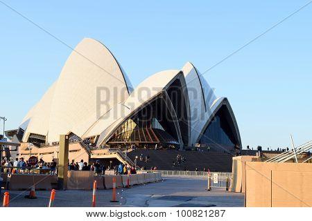Sydney, Australia - Aug 2015: View Of Sydney Opera House, Famous Icon, On August 2015 In Sydney, Aus
