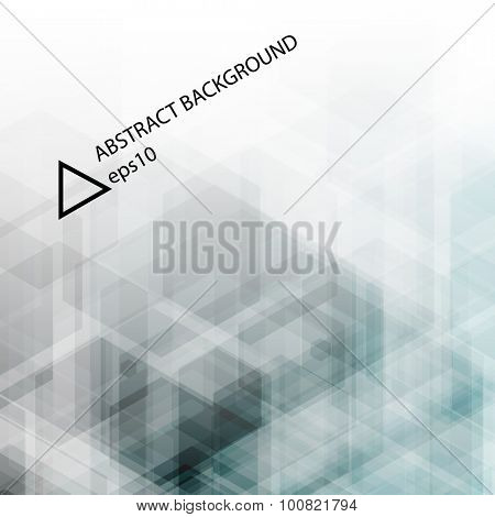 Abstract vector background. Hexagonal pattern transparent structure.