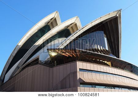 Sydney, Australia - Aug 2015: Closeup Of Sydney Opera House, Famous Icon, On August 2015 In Sydney,