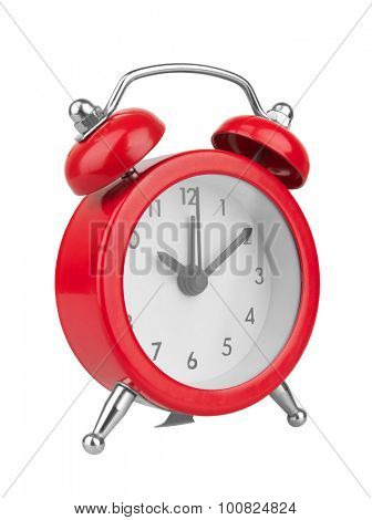 Alarm clock, isolated on white backgroung