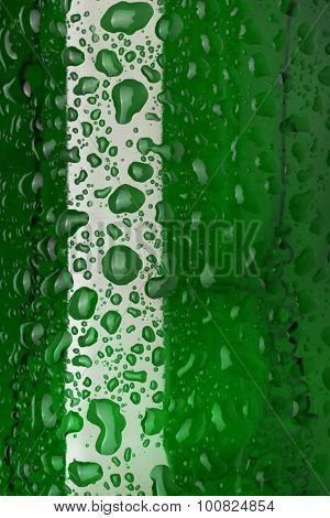 Bottles with drops close up