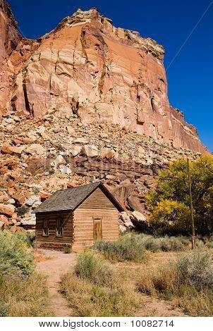 Pioneer One Room Schoolhouse In Utah Desert
