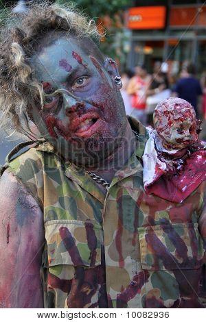 Brisbane, Australia - Oct 24 : Annual Brain Foundation Zombie Walk October 24, 2010 In Brisbane, Aus